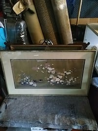 brown wooden framed painting of flowers Toronto, M3H