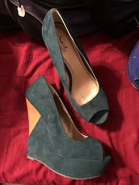 Dark teal and brown wedges Reno, 89511