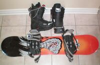Cobra Design Snowboard 118 cm Bindings and Burton Boots Mens Size 7  London