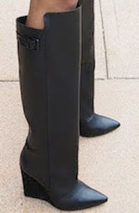 New Zara tall knee length black Leather Boots, Size 9 (39/40) - $300