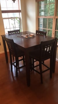rectangular brown wooden table with four chairs dining set Gaithersburg, 20878