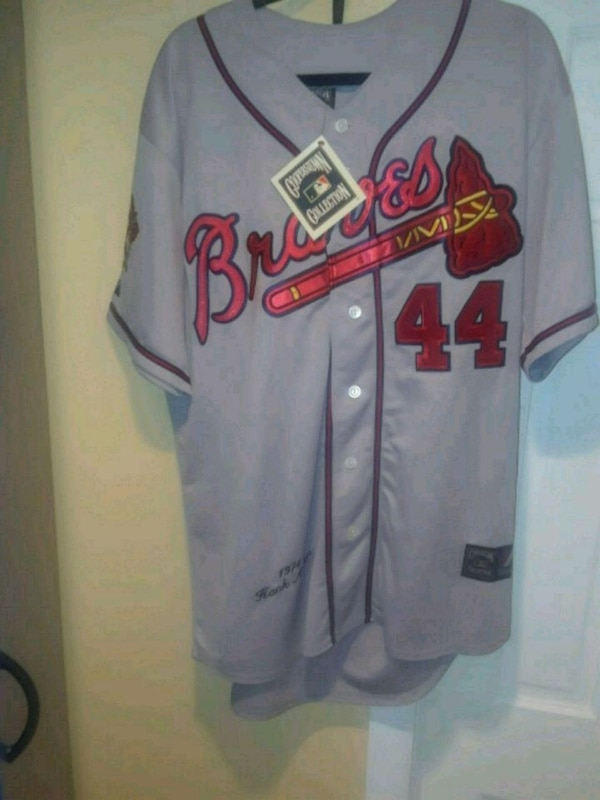 Used Braves Jersey  44 AARON for sale in Queens - letgo 3dc93252a