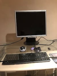 Computer monitor with wireless keyboard and mouse