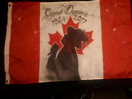 hand airbrushed flag