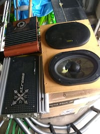 two black and brown speakers Houston, 77072