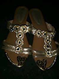 pair of silver-colored open-toe sandals Los Angeles, 91405