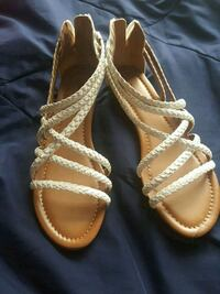 Leather braid sandals