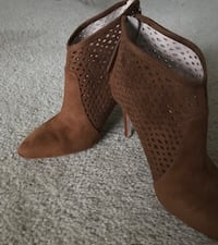 Suede bootie.  Size 10( from ZARA)