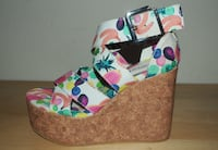 Platform sandals with fruit print, H&M, S. 37. Never worn! Toronto, M6H 1R2