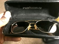gold-colored framed eyeglasses with case Morningside, 20746