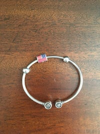 Swarovski bangle with American flag and rhinestones McLean