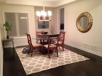Round Glass dining table with 4 chairs Burlington, L7L 3P4