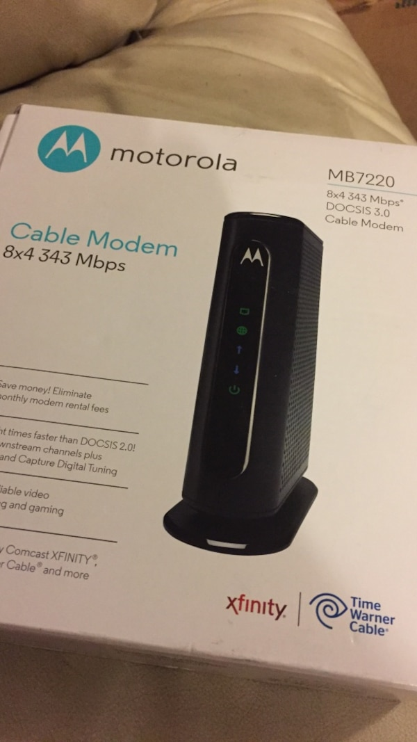 Used Motorola Mb7220 Cable Modem Open Box For Sale In Columbia Letgo