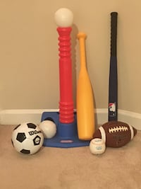 Little Tikes Tee Ball Set with Extra Sports Accessories—LIKE NEW Vienna, 22180