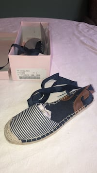 Navy and white striped espadrille flat sz 9 Temple Hills, 20748