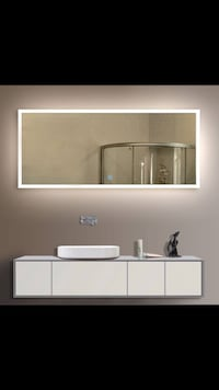 Led mirror with touch button (84x40-inch horizontal mirror)