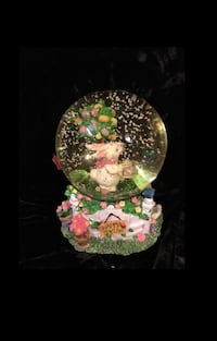 Spring Time Music Box Snow Globe