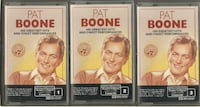 PAT BOONE -  His Greatest Hits and Finest Performances - 3 Cassette Box Set   Collector's Edition Original Recordings  Manufactured especially for Reader's Digest by MCA Records Digitally Remastered  MCA Recordings Canada  original box in good condition s Newmarket