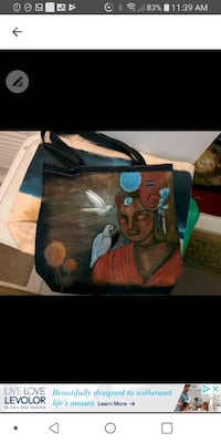 Hand painted jean bag Laval, H7M 4A2