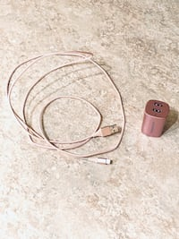 Rose Gold/Pink Charging Cable & Dual USB Port Wall Charger Herndon, 20171