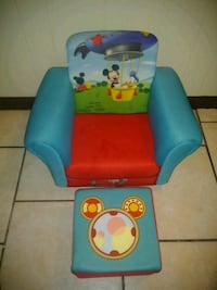 blue and red Mickey Mouse sofa chair Wilkes-Barre, 18702