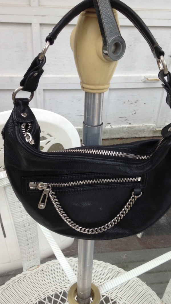 fd0d314b24f4 Used black leather hobo bag for sale in New Hyde Park - letgo