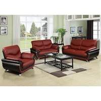 red leather sofa set with coffee table Las Vegas, 89147
