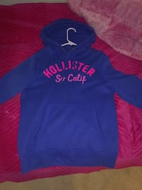 Hollister graphic logo black and pink hoodie