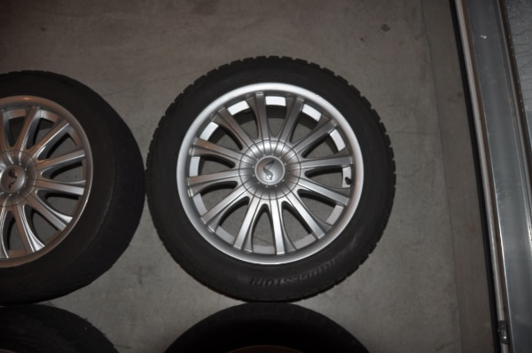 Price Reduced! - Now $250! - 4 Used Wheels with Bridgestone Blizzak Winter Tires WS80 - SIZE: 225/50R17 along with locking lug nuts to use with them a6e6147a-686e-4b87-a196-af0e2a894fda