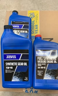 Volvo Penta gear oil and engine oil.