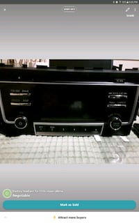 black 1-DIN car stereo head unit Calgary, T2K 4Y9