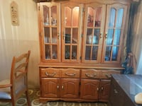 brown wooden china cabinet Montréal, H1Z 3X9