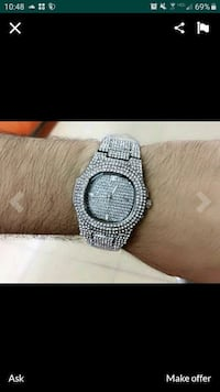Iced out watch