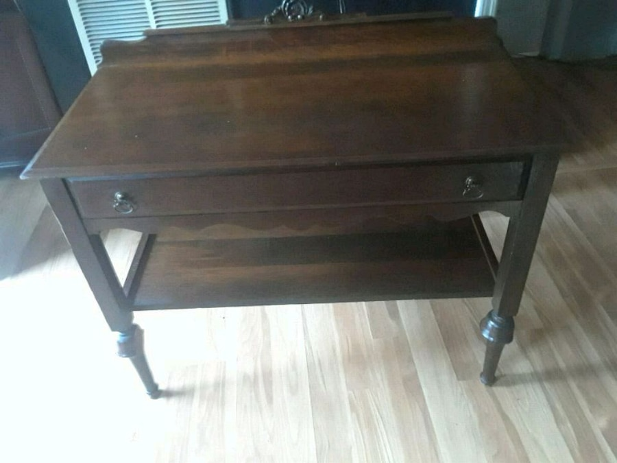 used brown wooden 2 drawer console table for sale in macon letgo rh tr letgo com