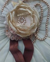 Beige hair band for girls