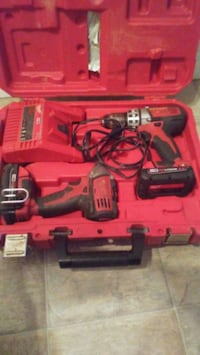 red and black Milwaukee cordless power drill with case Edmonton, T6H