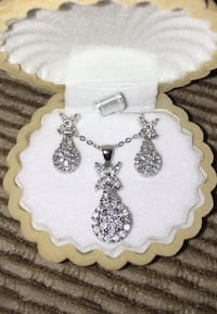 Brand new beautiful 925 silver jewelry set, gift, wedding, necklace, earrings  Whitchurch-Stouffville, L4A 6L1
