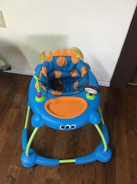 toddler's blue and orange activity walker