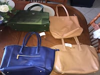 two white and blue leather tote bags 817 mi