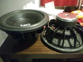Two 15 inch DC audio level 2 subs