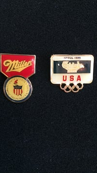 Olympic pins they also can be sold separately for $3 each or more for more discount  New York, 11101