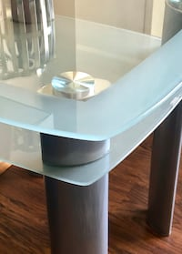 Frosted Glass Coffee Table/ Media Console and 2 Side Tables