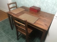brown wooden dining table with chairs Toronto, M6H 2N2