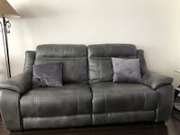 "The Brick Model ""NOVO-GREY"" leather look fabric sofa Milton, L9T 0S1"