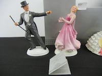 The Barkley's of Broadway Vintage Fred Astaire (Josh Barkley) and Ginger Rodgers (Dinah Barkley)  Avon Porcelain figures SAVANNAH