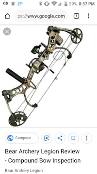 black and gray compound bow Parker, 16049