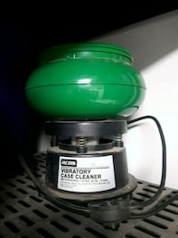 green and black RCBS vibratory case cleaner