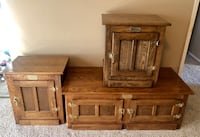 Oak White Clad Ice Box coffee table and end tables. Bakersfield, 93306