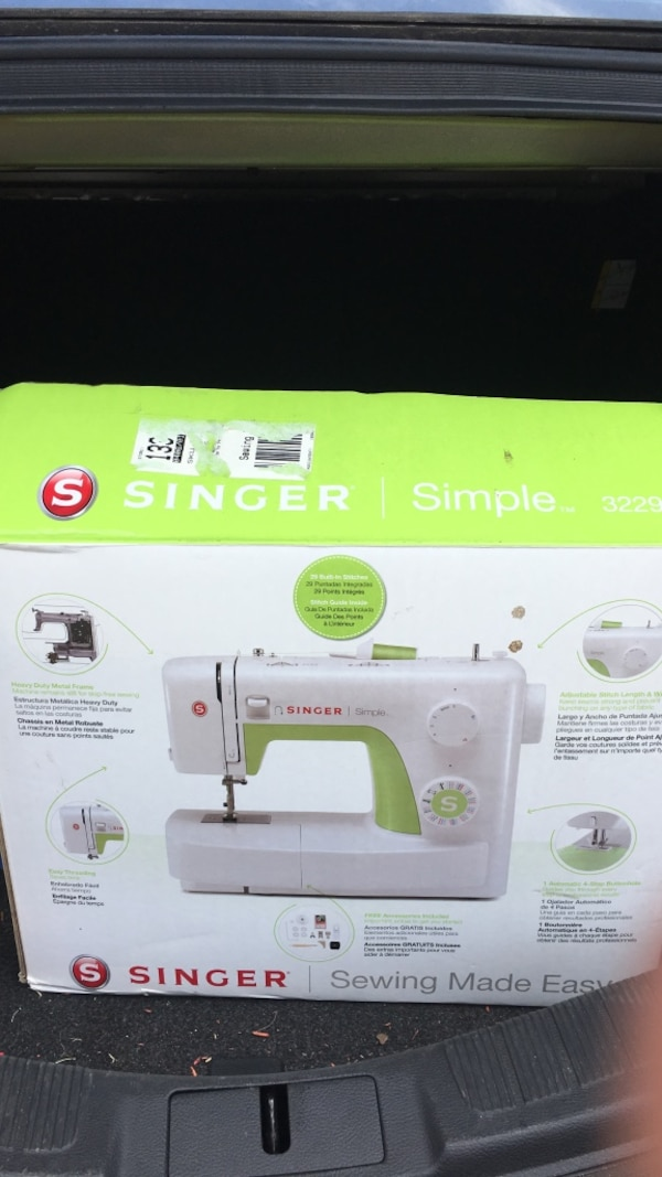 Used White And Green Singer Electric Sewing Machine Box For Sale In Best Singer Green Sewing Machine