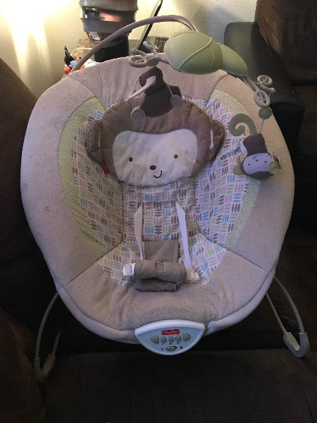 baby's white and gray bouncer North Las Vegas